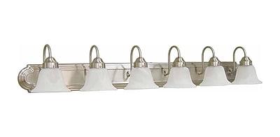 Aurora Lighting T3 COIL Bath Vanity Lamp, Brushed Nickel(STL-VME364567)