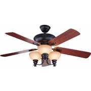 "Aurora Lighting 21.75"" Ceiling Fan Foundry Bronze (STL-VME541555)"