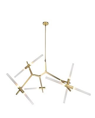Aurora Lighting Halogen Chandelier, Brass (HF-8059-10-BB)