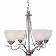 Aurora Lighting Incandescent Chandelier, Brushed Nickel (STL-VME048344)