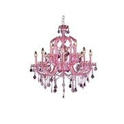 Aurora Lighting Incandescent Chandelier, Pink (HF1039-PNK)
