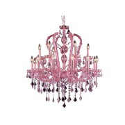 Aurora Lighting Incandescent Chandelier, Pink (HF1040-PNK)