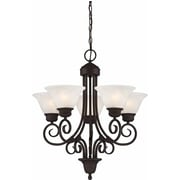 Aurora Lighting Incandescent Chandelier, Antique Bronze (STL-VME925355)