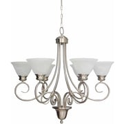 Aurora Lighting Incandescent Chandelier, Brushed Nickel (STL-VME325568)