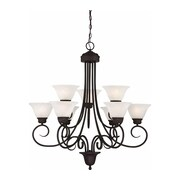Aurora Lighting Incandescent Chandelier, Antique Bronze (STL-VME925393)