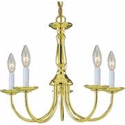 Aurora Lighting Incandescent Chandelier, Polished Brass (STL-VME245156)