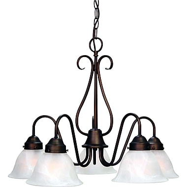 Aurora Lighting Incandescent Chandelier, Antique Bronze (STL-VME923559)