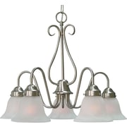 Aurora Lighting Incandescent Chandelier, Brushed Nickel (STL-VME323557)
