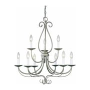 Aurora Lighting Incandescent Chandelier, Platinum Rust (STL-VME820094)