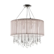 Aurora Lighting Halogen Chandelier, Taupe (HF1502-TP)