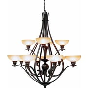 Aurora Lighting Incandescent Chandelier, Bronze (STL-VME641125)