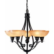 Aurora Lighting Incandescent Chandelier, Bronze (STL-VME541258)