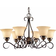 Aurora Lighting Incandescent Chandelier, Antique Bronze (STL-VME816695)