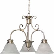 Aurora Lighting Incandescent Chandelier, Brushed Nickel (STL-VME321430)