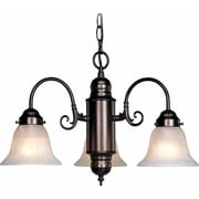 Aurora Lighting Incandescent Chandelier, Antique Bronze (STL-VME043233)