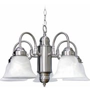 Aurora Lighting Incandescent Chandelier, Brushed Nickel (STL-VME043257)