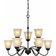 Aurora Lighting Incandescent Chandelier, Antique Bronze (STL-VME922590)