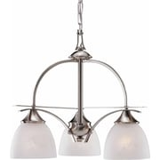 Aurora Lighting Incandescent Chandelier, Brushed Nickel (STL-VME048238)
