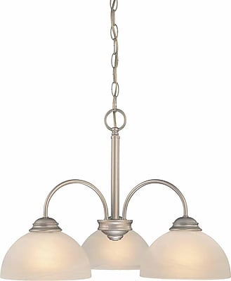 Aurora Lighting Incandescent Chandelier, Nickel (STL-VME622735)