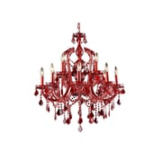 Aurora Lighting Incandescent Chandelier, Red (HF1039-RED)