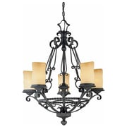 Aurora Lighting Incandescent Chandelier, Antique Iron (STL-VME345757)