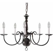 Aurora Lighting Incandescent Chandelier, Antique Bronze (STL-VME935651)