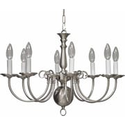 Aurora Lighting Incandescent Chandelier, Brushed Nickel (STL-VME335581)