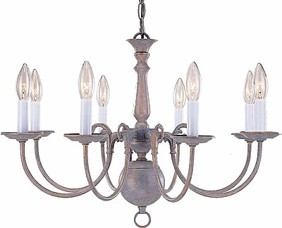 Aurora Lighting Incandescent Chandelier, Prairie Rock (STL-VME735589)