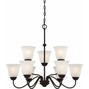 Aurora Lighting Incandescent Chandelier, Antique Bronze (STL-VME922699)