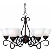 Aurora Lighting Incandescent Chandelier, Antique Bronze (STL-VME924464)