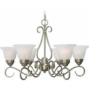 Aurora Lighting Incandescent Chandelier, Brushed Nickel (STL-VME324462)