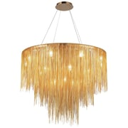 Aurora Lighting Halogen Chandelier, Gold (HF2222-G)