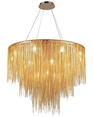 Aurora Lighting Halogen Chandelier, Gold (HF2222-G)