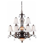Aurora Lighting Incandescent Chandelier, Vintage Bronze (STL-VME335192)