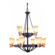 Aurora Lighting Incandescent Chandelier, Frontier Iron (STL-VME853399)