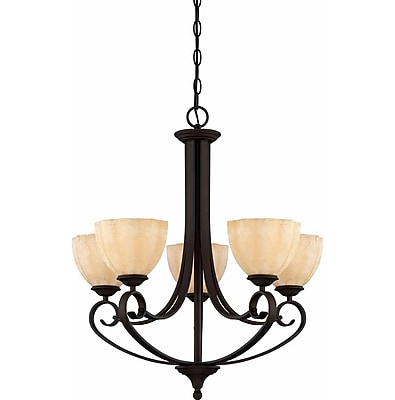 Aurora Lighting Incandescent Chandelier, Antique Bronze (STL-VME929056)