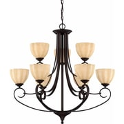 Aurora Lighting Incandescent Chandelier, Antique Bronze (STL-VME929094)