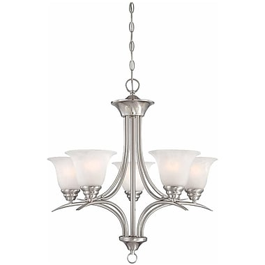 Aurora Lighting Incandescent Chandelier, Brushed Nickel (STL-VME352458)