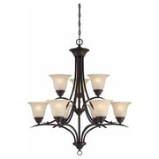 Aurora Lighting Incandescent Chandelier, Antique Bronze (STL-VME954799)
