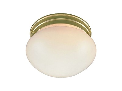 Aurora Lighting Incandescent Flush Mount, Polished Brass (STL-VME270080)