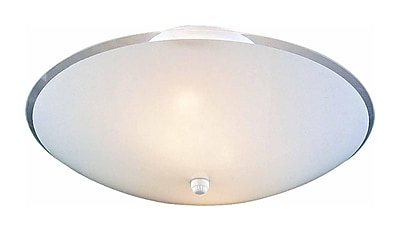 Aurora Lighting Incandescent Flush Mount, White (STL-VME619148)
