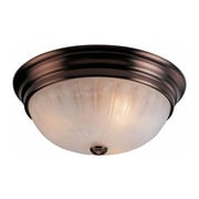 Aurora Lighting Compact Fluorescent Flush Mount, Antique Bronze (STL-VME764404)