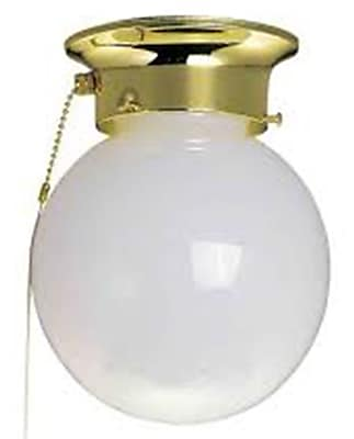 Aurora Lighting Incandescent Flush Mount, Polished Brass (STL-VME273081)