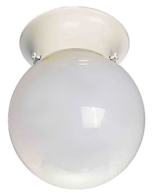 Aurora Lighting Incandescent Flush Mount, White (STL-VME673089)