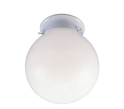 Aurora Lighting Incandescent Flush Mount, White (STL-VME674086)