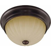 Aurora Lighting Incandescent Flush Mount, Antique Bronze (STL-VME977422)