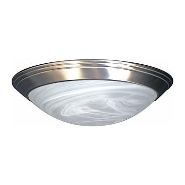 Aurora Lighting Incandescent Flush Mount, Brushed Nickel (STL-VME375501)