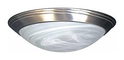 Aurora Lighting Incandescent Flush Mount, Brushed Nickel (STL-VME375525)