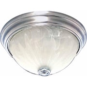 Aurora Lighting Incandescent Flush Mount, Brushed Nickel (STL-VME377321)