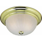 Aurora Lighting Incandescent Flush Mount, Polished Brass (STL-VME277324)